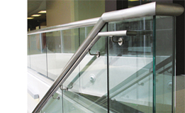 Dry Glaze Glass Balustrade System: TAPER-LOC® from CR Laurence