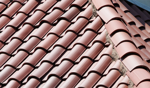 /Clay tile roofing