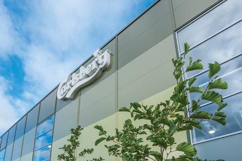 Eurobond Laminates stone wool core cladding Carlsberg UK