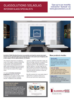 Glassolutions Interior Glass Specialists brochure