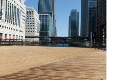 John Brash Timber Canary Wharf Decking
