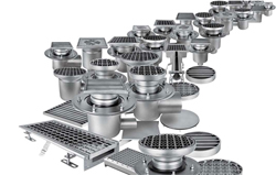Harmer Steel Floor Drains range from Alumasc