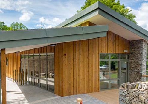 Silva Timber ThermoWood cladding Tower Wood Outdoor Educational Centre