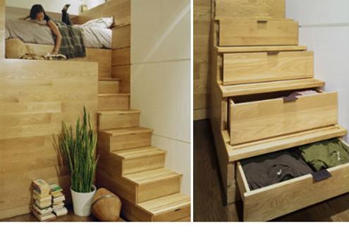 Under stairs efficient storage