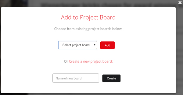 Project Boards - Add to board