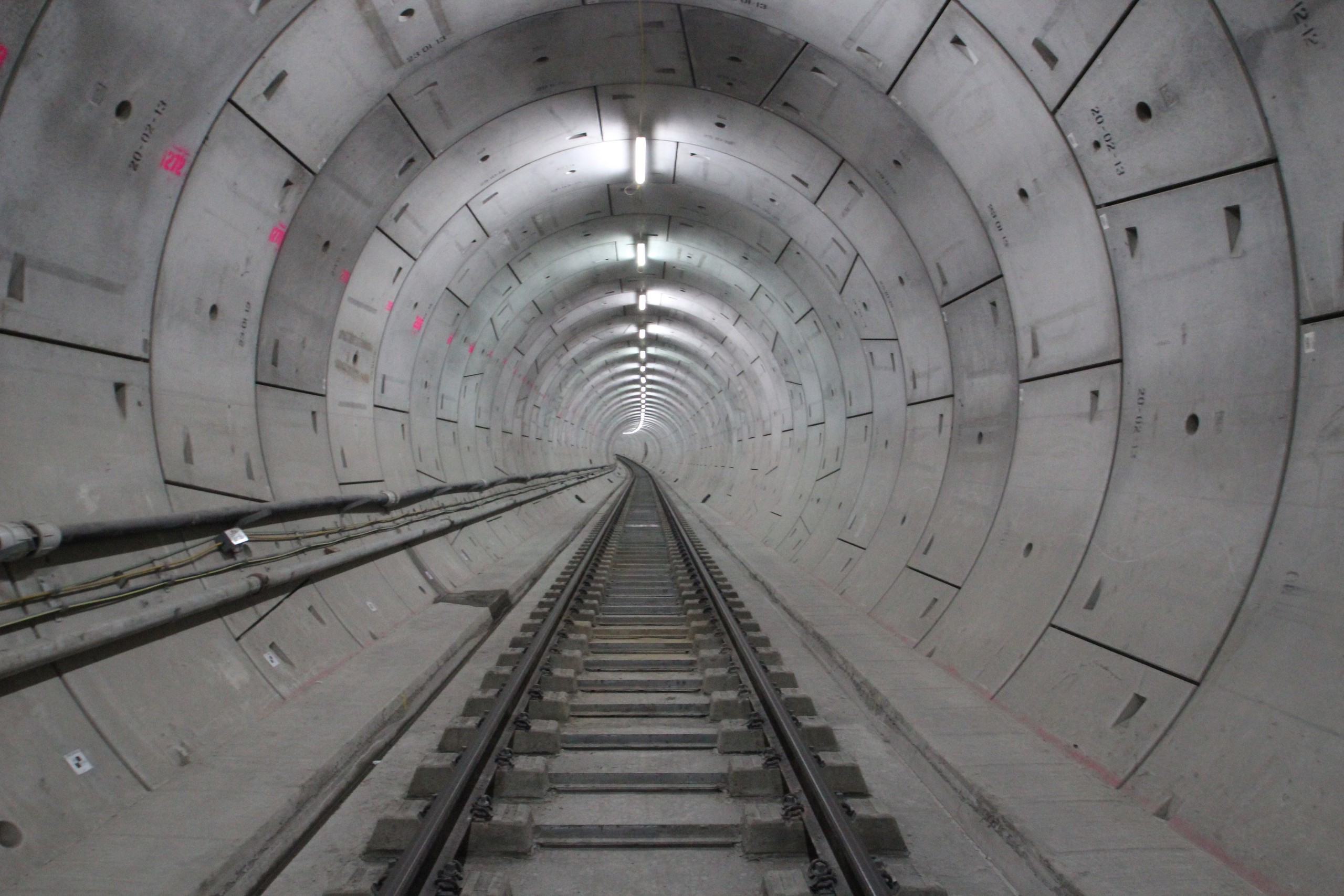Crossrail track fit out