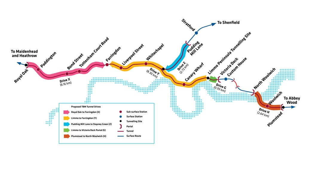Elizabeth Line Tunnelling